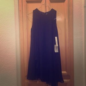 Nordstrom Navy Tank Dress with Ruffle